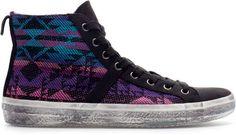 Ethnic Pattern Hightop Sneaker - Lyst