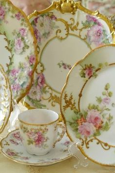 Pretty hand painted plates.