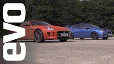 #Jaguar F-Type V6 S vs #Subaru #WRX STI [evo Drag Battle] #evo