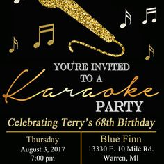 Adult birthday invitation karaoke chalkboard karaoke dj photos buyer photo linda miner who reviewed this item with the etsy app for android more information more information 30th birthday invitation stopboris Choice Image