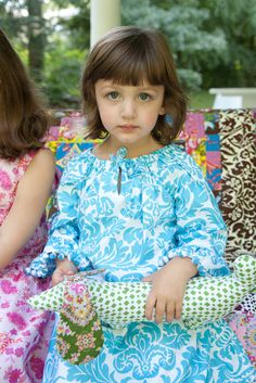 Sis Boom Leighanna Peasant Dress Sewing Pattern PDF E-Book for baby and toddler - with Scientific Seamstress