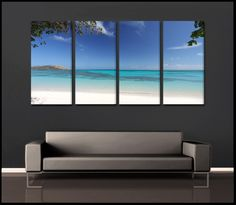 Glowing Lagoon  Fiji Tropical 4-Piece Epic Fine Art Canvas Wall Display.   & 39 best Multi-Piece Epic Canvas Wall Art images on Pinterest ...