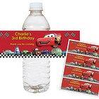 Disney Cars Lightning McQueen Matter- Printable Water Bottle Wraps