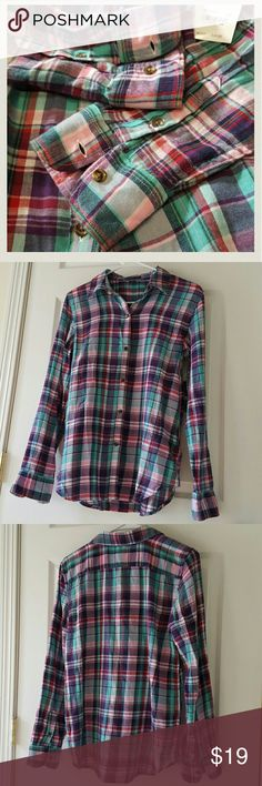 Macy's - American Living - Flannel American Living  Small  New with tag  Beautiful Colors American Living Tops Button Down Shirts