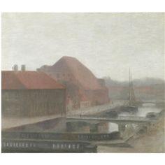 Vilhelm Hammershøi, Fra Frederiksholms Kanal (View of Frederiksholm Canal)