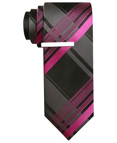 Alfani RED Tie, Cabezas Grid Skinny Tie with Tie Bar - Mens Ties - Macy's