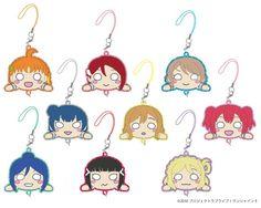 Love Live! Sunshine!! Sprawled Tsunagaru Rubber Mascot BOX (SET OF 9 PIECES)   4573253504930   ラブライブ!サンシャイン!!…