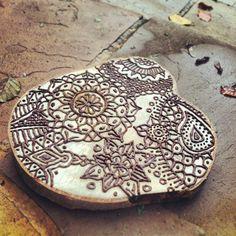 Henna Log Land Art Alex Birchall