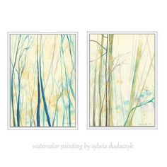 Set of two  Art Prints ma Watercolor Painting  8x11 by mallalu, $35.00