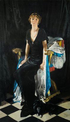 fleurdulys: Portrait of Lady Idina Wallace - William Orpen