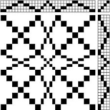 Image result for overshot weaving drafts