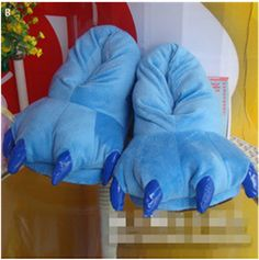 Start cosplaying at home with this pair of Stitch Slippers - Keep your feet warm with your own pair of Monster Slippers! - Tromp through the house in these plush slippers Limit 10 Per Order Please all