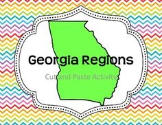 this is a cut and paste activity for the five geographic regions of georgia directions as well as additional activities that complement the lesson are