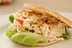 Greek Yogurt Chicken Salad with Apples and Thyme. Wholesome, healthful eating via frugallyfoodulgen. Healthy Foods To Eat, Healthy Cooking, Healthy Eating, Healthy Recipes, Greek Yogurt Chicken Salad, Chicken Salad With Apples, Whole Food Recipes, Great Recipes, Favorite Recipes