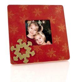 Red Snowflake Frame
