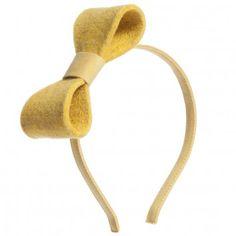 RoRo Yellow Felt Bow Hairband at Childrensalon.com