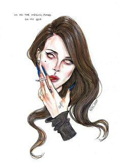 Lana Del Rey #LDR #The_Blackest_Day #art by Lucas David