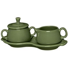Fiesta Sugar & Creamer Set (Green) (69 CAD) ❤ liked on Polyvore featuring home, kitchen & dining, serveware, green, fiesta sugar bowl, fiesta sugar and creamer, green sugar bowl, fiesta serveware and fiesta creamer