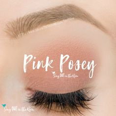 Pink Posey ShadowSense is a pink, cream to powder eyeshadow color by SeneGence. Smudgeproof and budgeproof.  Perfect color to use as blush.  #pinkposey #eyeshadow #shadowsense #senegence #blush