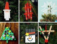 Decorazioni natalizie create con gli stecchi del gelato | DIY christmas made with ice cream sticks • #DIY #christmas #recycle