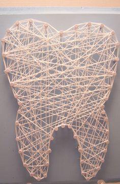 Wisdom tooth string art. Dental art. Tooth. by Stringlandia