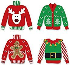 Ugly Sweater Christmas Party Tacky Sweater Free Printables HOLIDAY