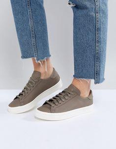 Adidas | adidas Originals Court Vantage Sneakers In Khaki