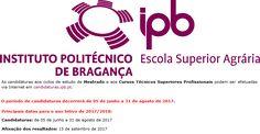 Candidaturas para o ano letivo 2017/2018