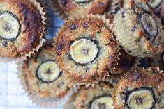Gluten Free, Dairy Free, Nut Free, Grain Free and refined sugar free banana muffins! Nut Free, Grain Free, Dairy Free, Gluten Free Banana, Create A Recipe, Dark Chocolate Chips, What's Cooking, What To Cook, Meals For The Week