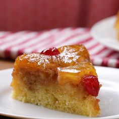 Make an easy pineapple upside-down cake without an oven. This cake looks just the same and is equally as delicious as the traditional recipe.