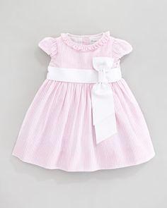 Short Sleeve Seersucker Dress, Pink  by Ralph Lauren at Neiman Marcus.