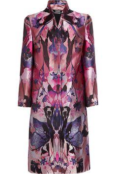 Alexander Mcqueen Jacquard Coat in Pink | Lyst ; $2755