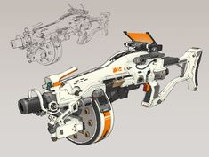 Imaginary Weaponry - Artwork of weapons. Guns, swords, magical staves - it's all welcome. Anime Weapons, Sci Fi Weapons, Weapons Guns, Robot Concept Art, Armor Concept, Weapon Concept Art, Fantasy Armor, Fantasy Weapons, Objet Star Wars