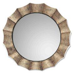 Uttermost Gotham Silver Leaf & Black Wall Mirror - 41 diam. in. - 06048 P