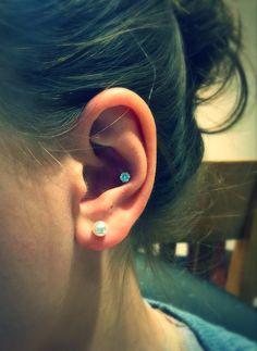 inner conch ear piercing, cute, 4 mm