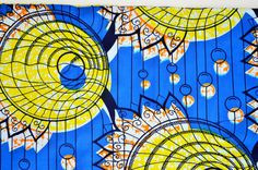 Blue African Fabric By The Yard African Super by ZabbaDesigns