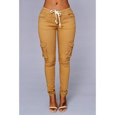 Field Trip Pants Wheat (£12) ❤ liked on Polyvore featuring pants, bottoms and jeans