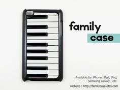 Piano iPod touch 4 / 4G Case, Cover / iPod touch 4th Generation Case, Cover (Black or White Case). $9.99, via Etsy.