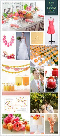 Pink + Orange Wedding!