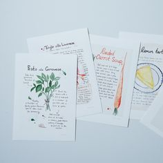 Your Own Recipe Converted to a Custom Watercolor Painting by Emiko Davies