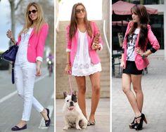 combinar blazer rosa - Buscar con Google