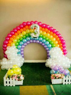 Rainbow balloon arch at a My Little Pony birthday party! See more party planning ideas at CatchMyPar My Little Pony Birthday Party, Trolls Birthday Party, Rainbow Birthday Party, Unicorn Birthday Parties, Birthday Ideas, 3rd Birthday, Unicorn Party, Rainbow Parties, Balloon Birthday