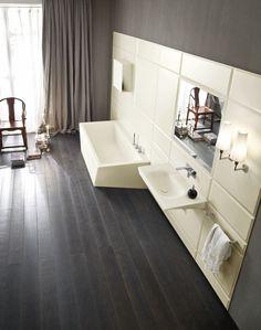 Corian® #bathroom furniture set WARP by Rexa Design | #design Carlo Dal Bianco @Rexa Design