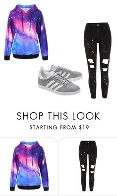 """""""Long time no see guys!"""" by fairytail-anime ❤ liked on Polyvore featuring River Island and adidas Originals"""