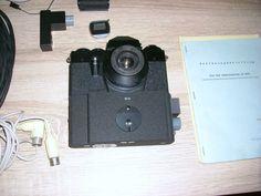 Praktika SR 899 Stasi Kamera System mit Datenrückwand Digitaluhr Agentenkoffer