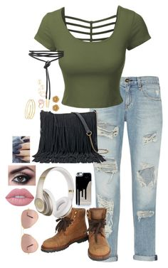 """""""a u t u m n"""" by haymay2000 on Polyvore featuring rag & bone, LE3NO, Chanel, SONOMA Goods for Life, Beats by Dr. Dre, Ray-Ban, Miriam Haskell, Goshwara, MANGO and Lime Crime"""