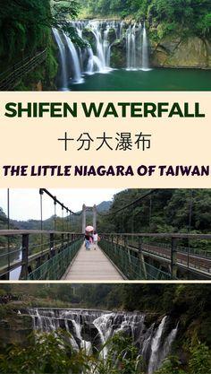Shifen waterfall is