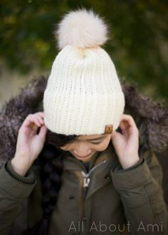 1d7b88cf574 Crochet your own modern ribbed beanie with a cozy double brim that helps  the hat stay