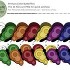 This set of butterflies contains 12 primary color graphics, and the two black lines variants.  These butterflies are sure to brighten up virtually ...