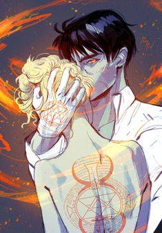Anime: Fullmetal Alchemist Brotherhood Personagens: Roy Mustang e Riza Hawkeye Fullmetal Alchemist Mustang, Fullmetal Alchemist Alphonse, Fullmetal Alchemist Brotherhood, Kpop Anime, Manga Anime, Anime Art, Character Inspiration, Character Art, Superhero Cartoon